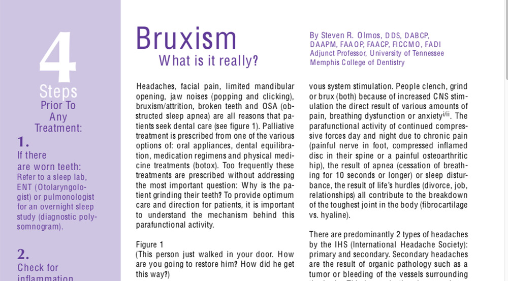 Bruxism – What is it really?