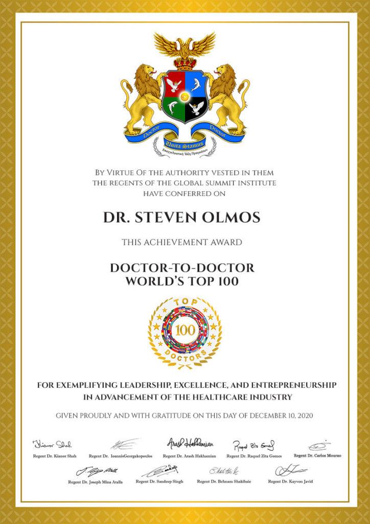 WORLD'S TOP 100 DOCTORS | CLASS OF 2021